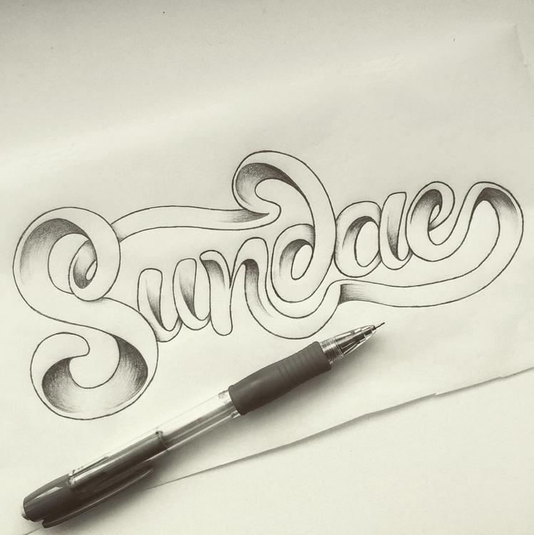 Sundae - sundae, typography, lettering - marketa_konta | ello