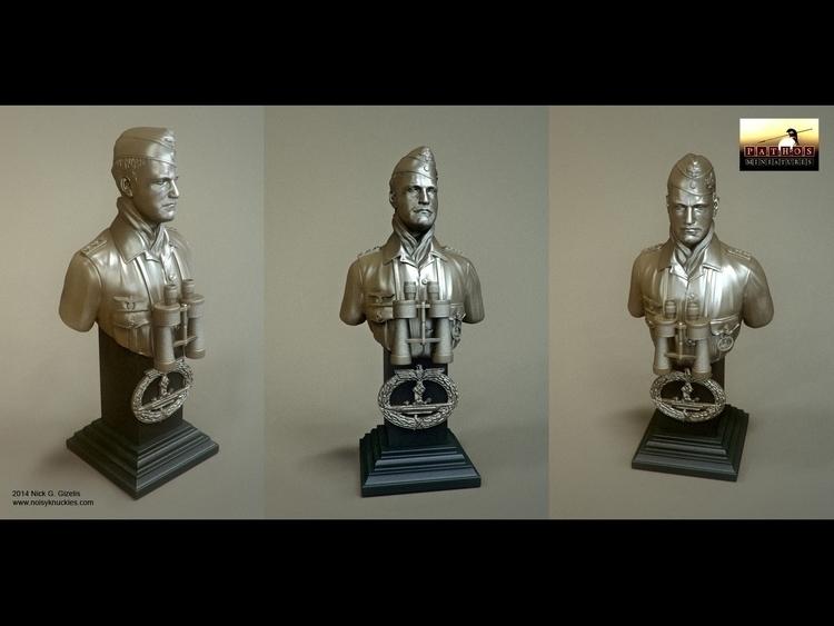 WWII German Commander bust. 3D  - aumakua | ello