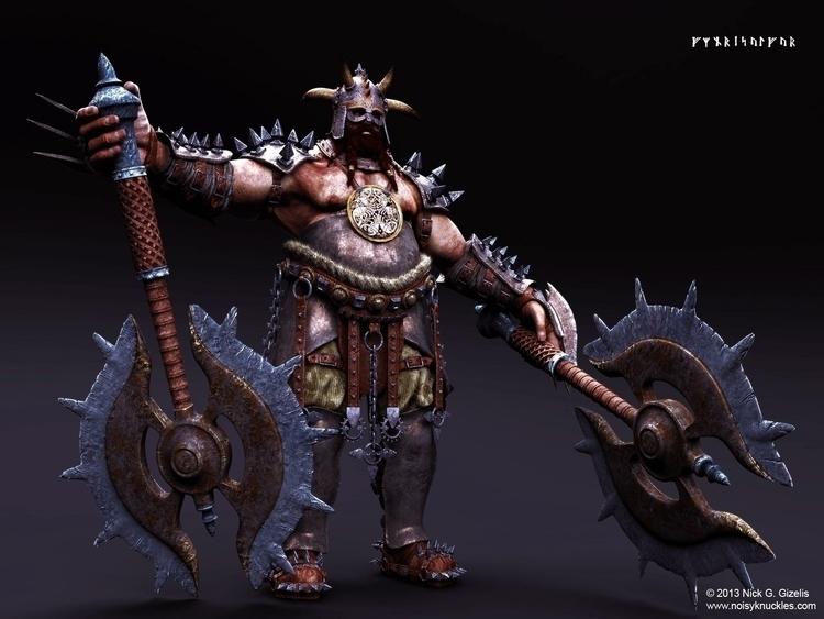 Fantasy Norse Warlord. Commissi - aumakua | ello