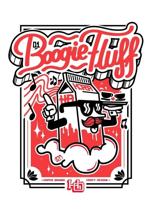 boogie fluff - illustration, illustrator - hoper420 | ello