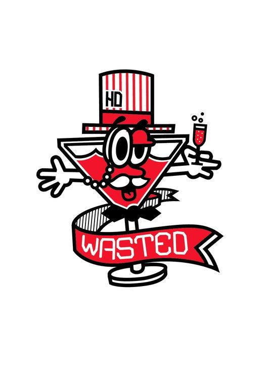 Wasted - wasted, illustration, vector - hoper420 | ello