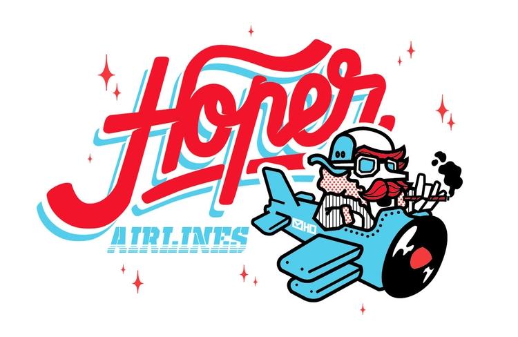 Hoper Airlines - illustration, characterdesign - hoper420 | ello