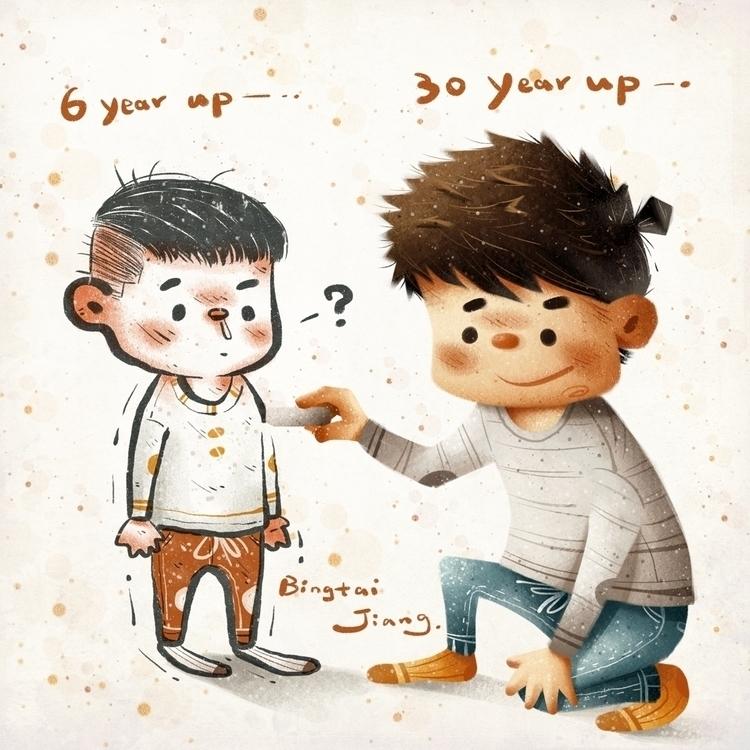 childhood - illustration, drawing - bingtai | ello