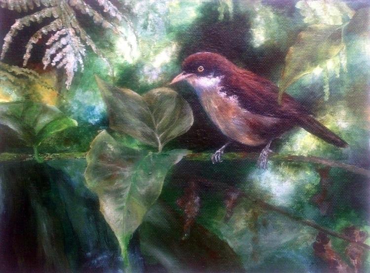 Bird - painting, acrylic, sunlightandtrees - fariafiroz26 | ello