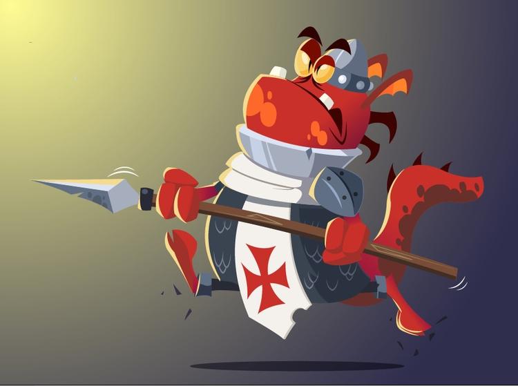 Templar - illustration, vectorart - michelverdu | ello