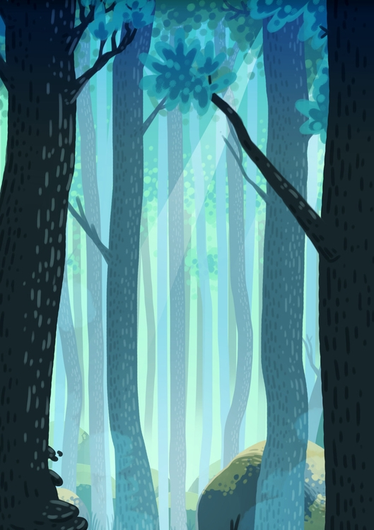 Forest - forest, illustration, trees - indiana_jonas | ello