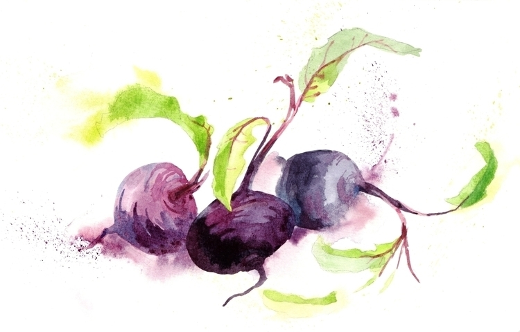 Crazy beet - illustration, painting - hanna-1284 | ello