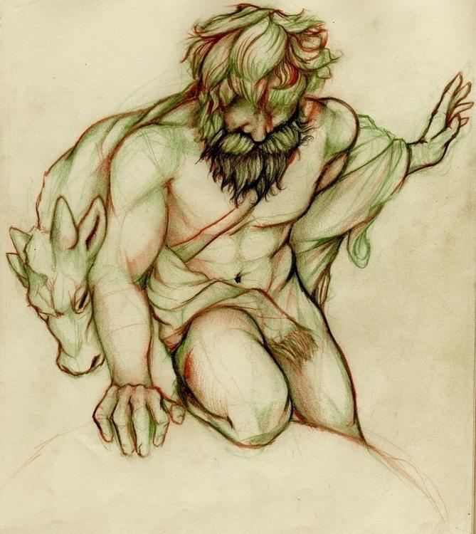 God earthquakes - myth, statue - jeremieduval | ello