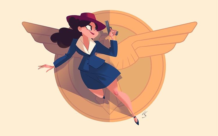 Agent Peggy Carter - illustration - nickswift | ello