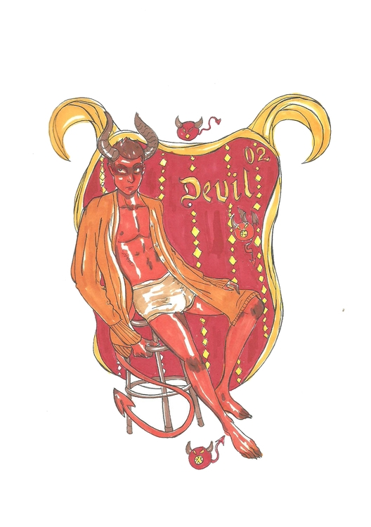 02 Devil - illustration, characterdesign - hotshots2000 | ello