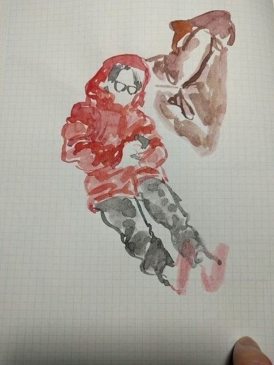 doodle, drawing, watercolour - mioim   ello
