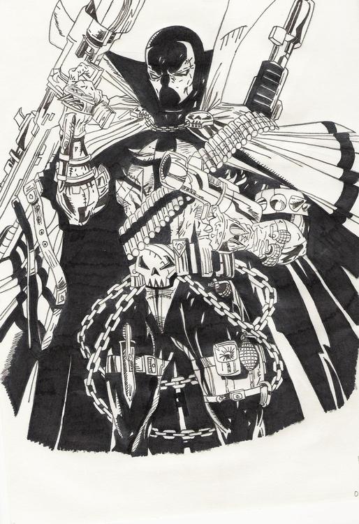Spawn, armed teeth - illustration - miguelcoelho | ello