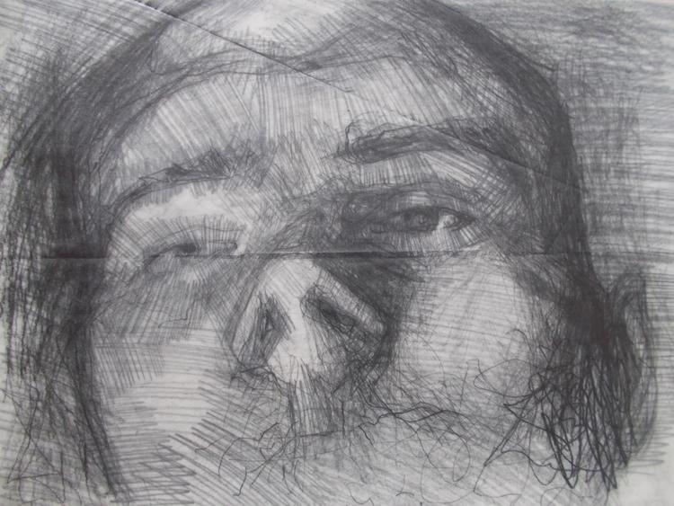 ,,Autoportret 2.''; kombinovana - ivanmitic | ello