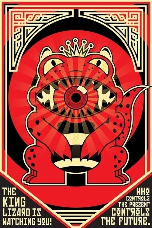 King Lizard - red, black, yellow - profeta999 | ello