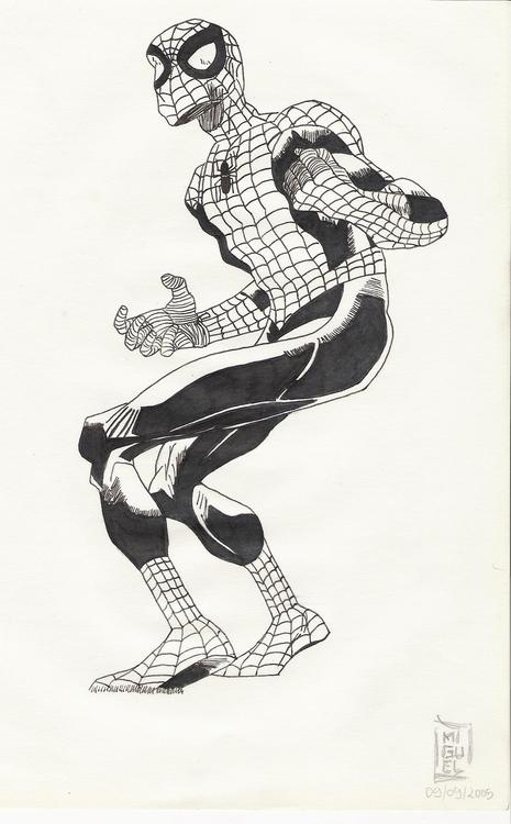 Spider-Man - illustration, drawing - miguelcoelho | ello