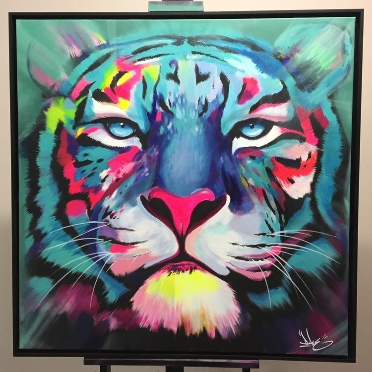 Tiger EdgArt acrylique sur toil - davebaranes | ello