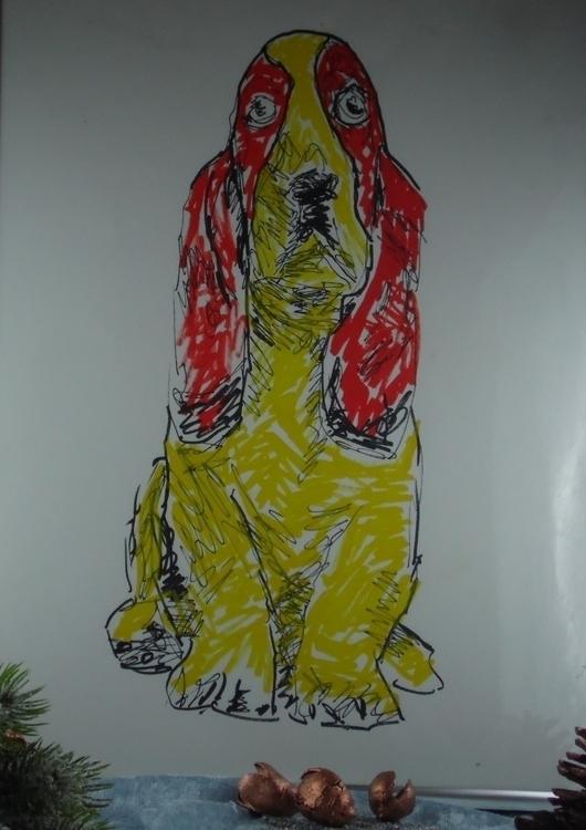 Basset - illustration, dog, puppy - kleckerlabor-5193   ello