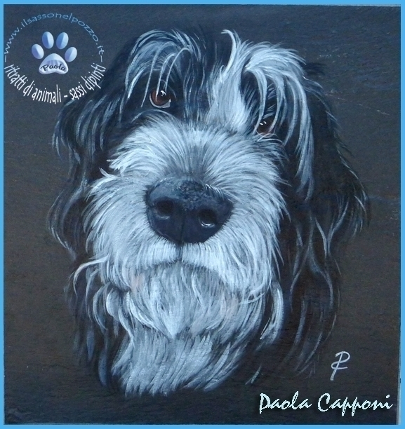 Dog portrait - painting, dogportrait - ilsassonelpozzo | ello