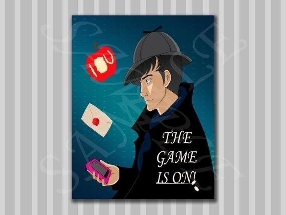 BBC Sherlock Poster, sale Etsy  - bridgetpavalow | ello