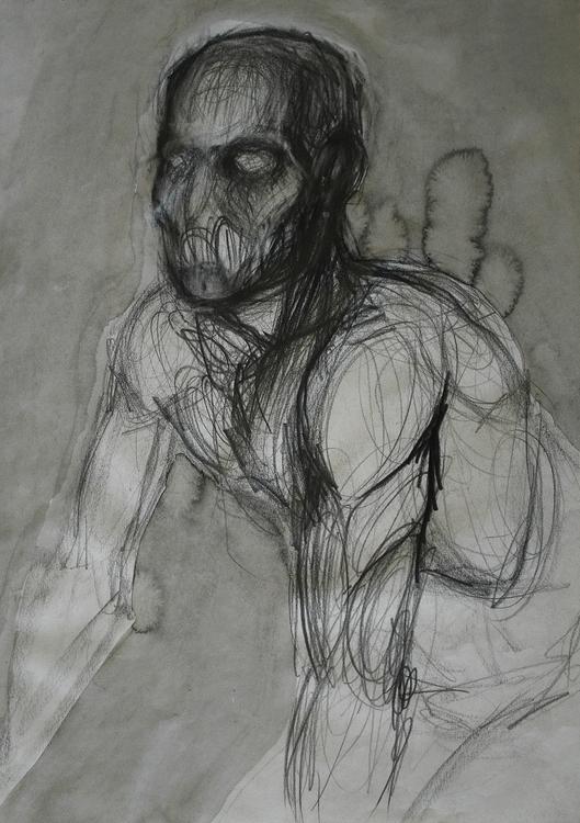 ,,Akt 2.''; grafit tuš na papir - ivanmitic   ello