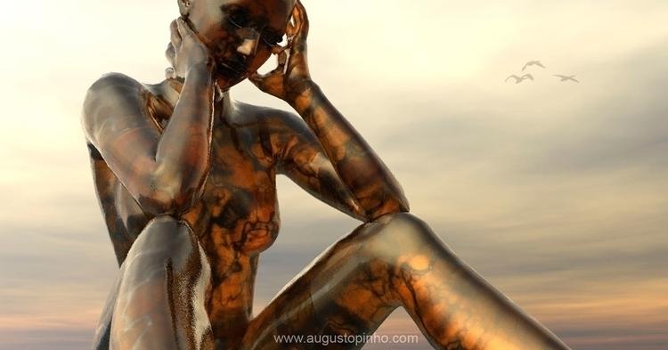 Golden girl - 3d, 3dart - augustopinho | ello