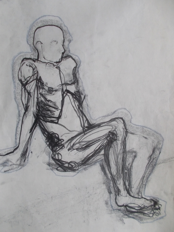 ,,Akt 3.''; grafit tuš na papir - ivanmitic | ello