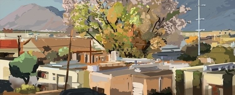art, painting, landscape, wacom - lucapisanu | ello