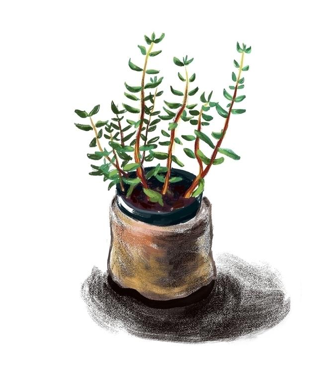 Spitpaint day 9 - cactus, art, illustratino - mirako-8379 | ello