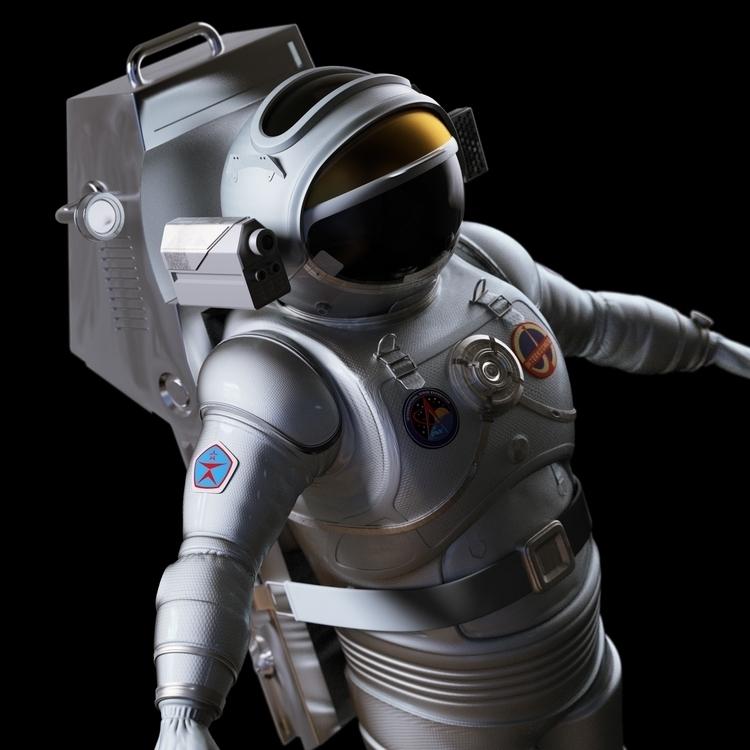 3dmodel, spacesuit - worontzoff | ello