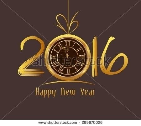 Happy Year 2016 - clock - illustration - ngocdai86 | ello