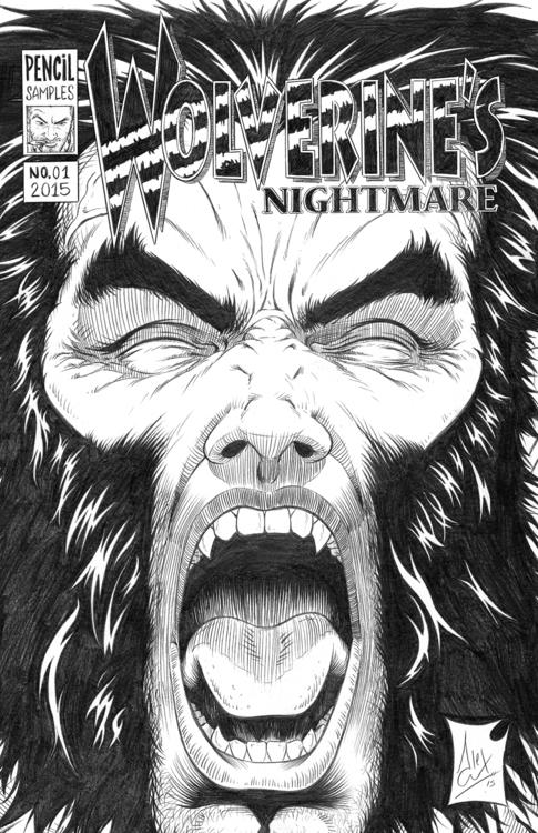 Nightmare pencil cover - wolverine - alexfemenias   ello