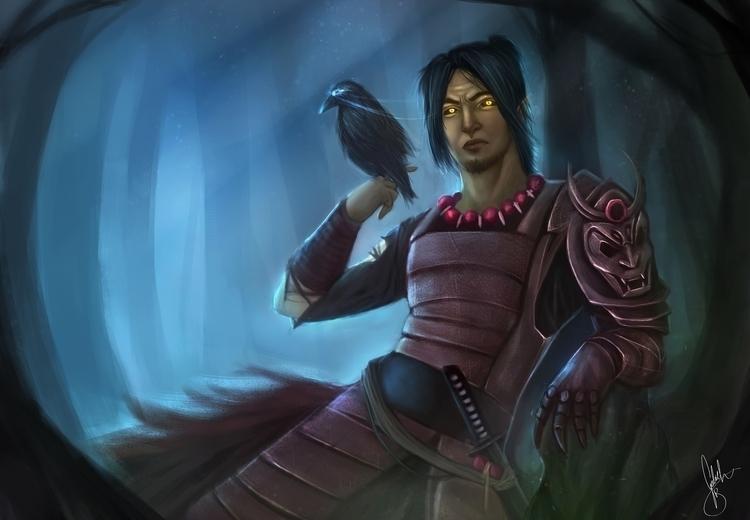 Samurai Soul- Personal Illustra - gabrielbrasil-1301 | ello