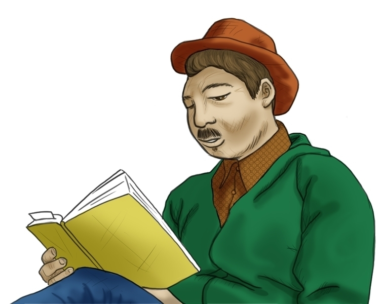 Leitor Reader - characterdesign - augustopinho | ello