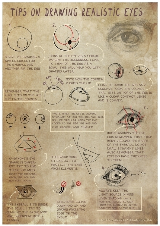 Improve eye drawings tips - illustration - nightshadeberry | ello