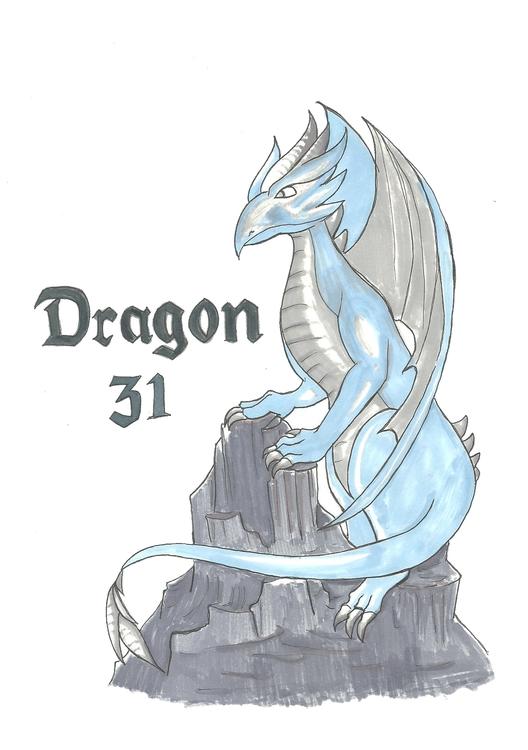 31 Dragon - illustration, drawing - hotshots2000 | ello