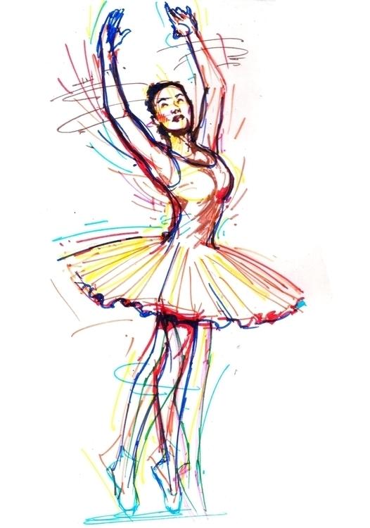 ballerina - painting - sunnyefemena | ello