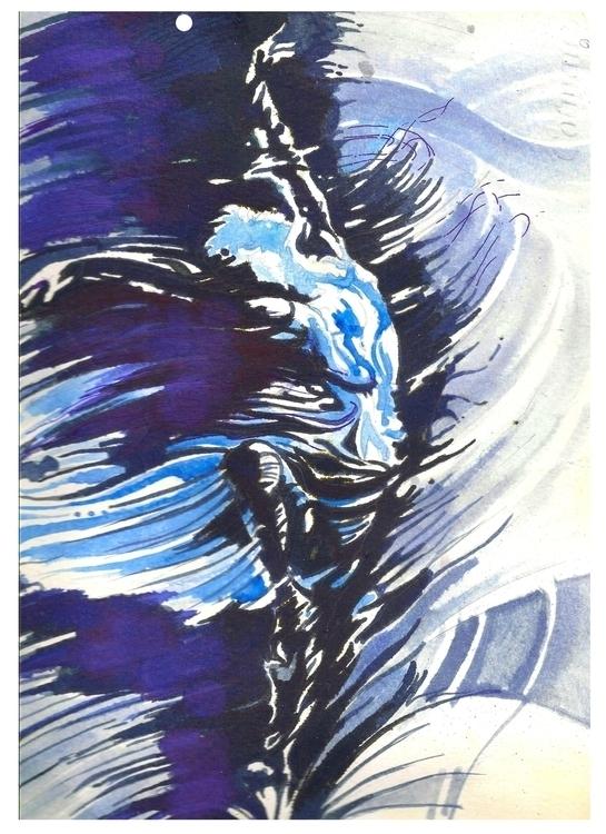dance moon - painting - sunnyefemena | ello