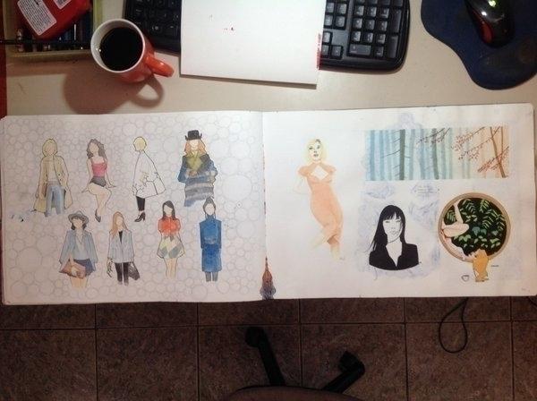 sketch, doodle, painting, moleskine - emarchena | ello