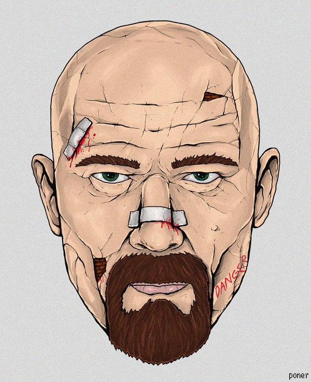 breakingbad, illustration, fanart - poner | ello