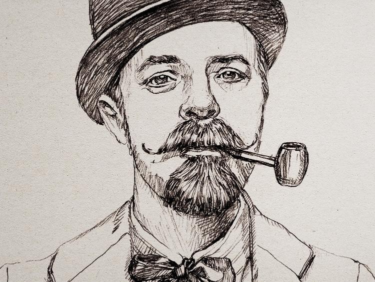 portrait man - illustration, drawing - zizilka | ello