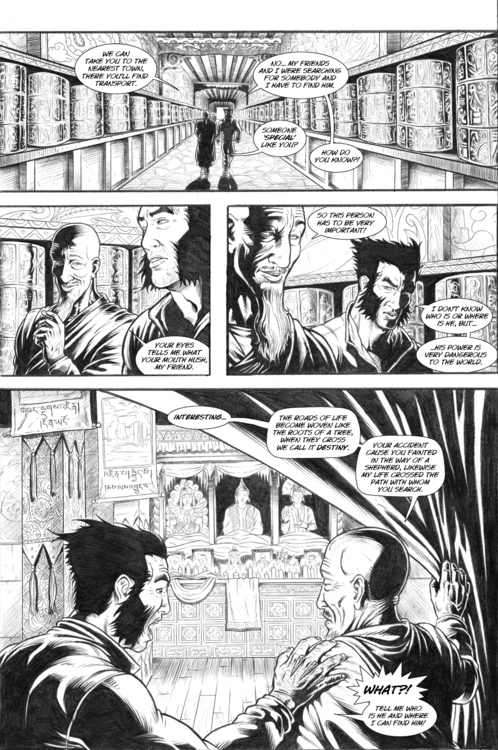 Nightmare page 16 - wolverine, pencil - alexfemenias | ello
