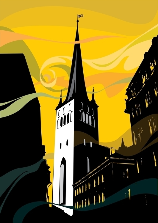 Tallinn - illustration, vector, vectorart - hanna-1284 | ello