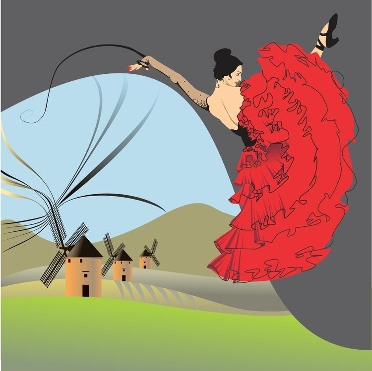 Spanish dancer - illustration, vector - hanna-1284 | ello