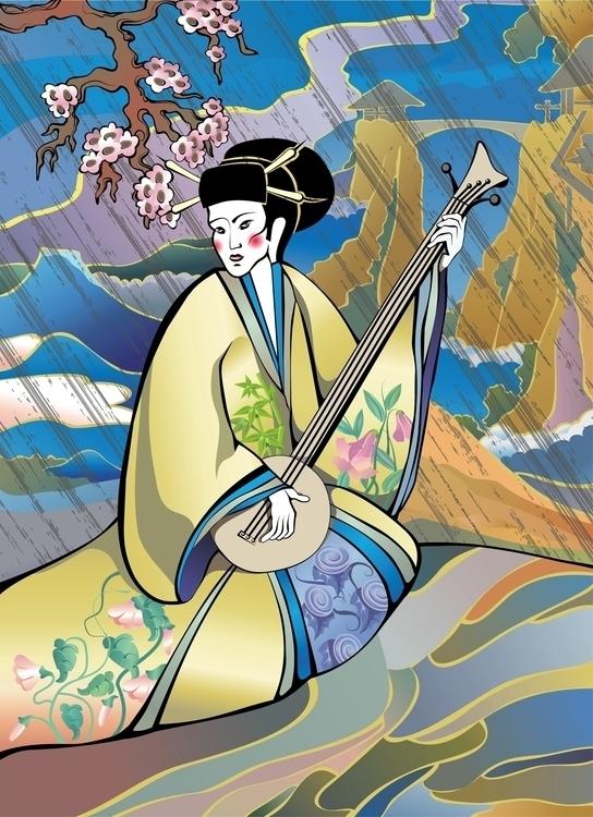 Japan - illustration, vector, vectorart - hanna-1284 | ello