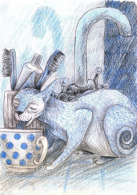 Cat - 2, illustration, comics, story - olga_msk | ello