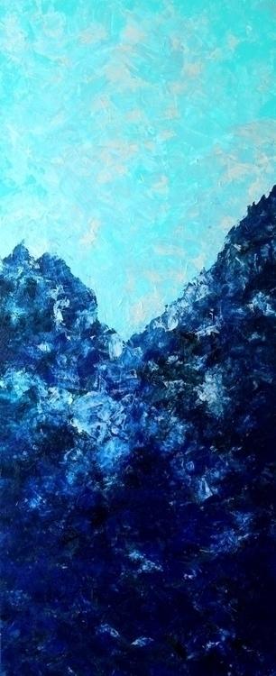 Light Dark Blue Acrylic canvas  - lucia-2691   ello