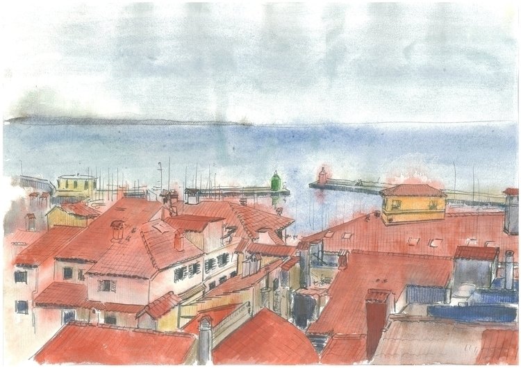 View Piran Church - painting - markojezernik | ello