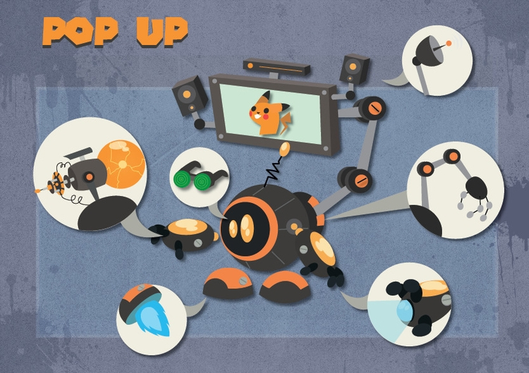 pop robot - illustration, vector - michelverdu | ello