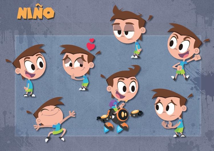 Kid expressions - illustration, characterdesign - michelverdu | ello