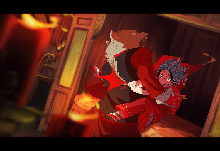 red riding hood - qing dynasty  - sixiaoart | ello